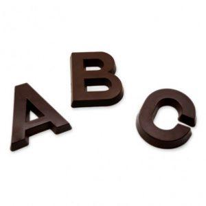 Lettre Chocolat noir
